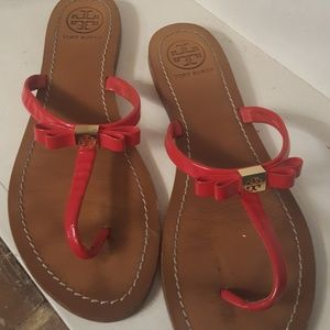Tory Burch Red Sandals and